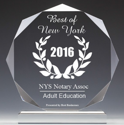 NY Notary Learning Center Review Award 2016