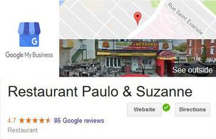 Google My Business - Paulo et Suzanne Reviews