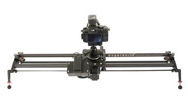 Carbon Fiber motorized camera slider, with time Lapse Features, speed and position control. Great with dslrs, camcorders and cameras weighing up to 17 pounds.