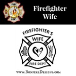 Firefighters Wife Heart Dept Logo