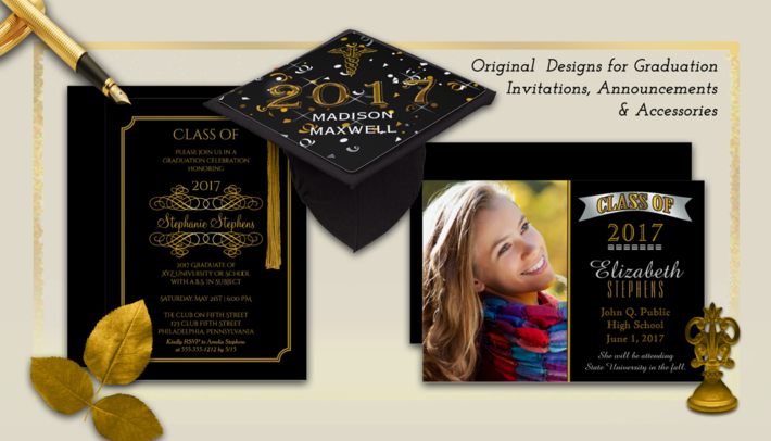 class of 2017 graduation invitations announcements and accessories