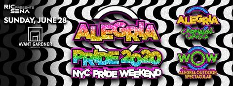 Ric Sena Presents ALEGRIA PRIDE 2020, Sunday, June 28, 2020