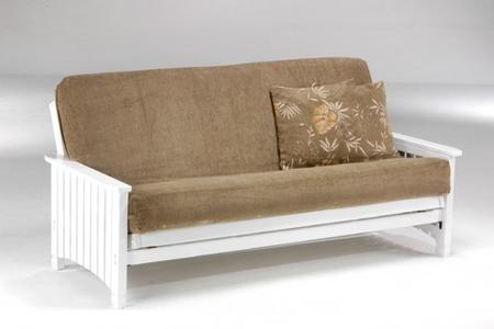 from front for economax en metal wood base and futon image
