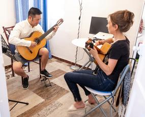 Seville, Spain is a great place to learn flamenco or classical guitar