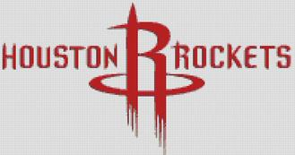 Houston Rockets Cross Stitch Chart Pattern