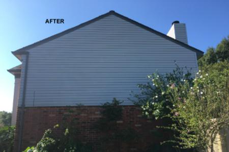exterior house washing vinyl siding after