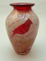 Traditional Cardinal Vase