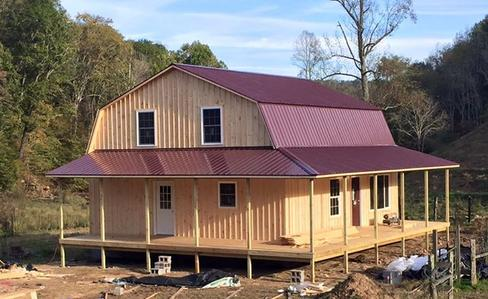 Gambrel cabins for 32x32 cabin plans