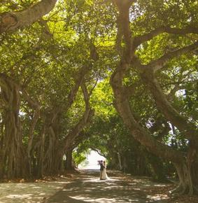 Ceremony at Banyan street in Boca Grande
