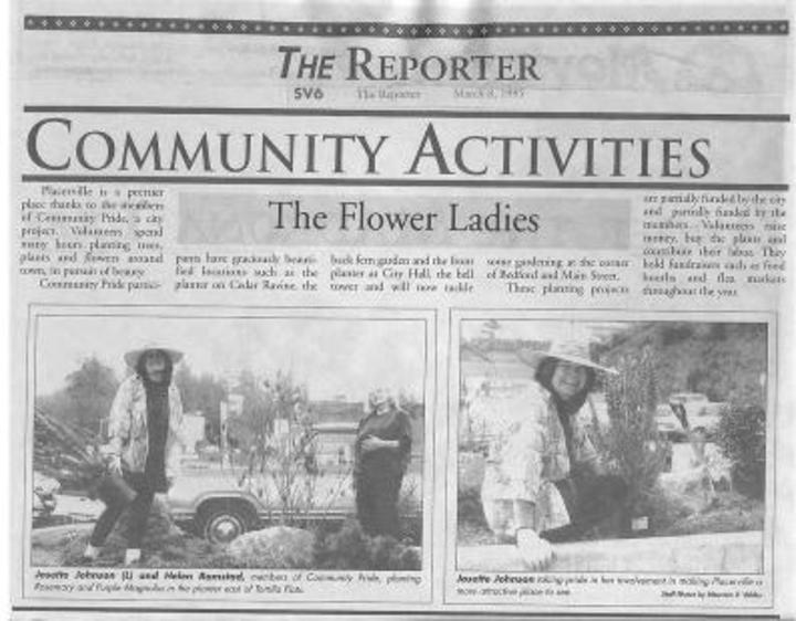 Community Pride Archives Flower Ladies Placerville Petals Community Pride Volunteers Josette Johnson http://www.josettejohnson.com