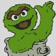 Cross Stitch Pattern Chart of Muppet Grouch