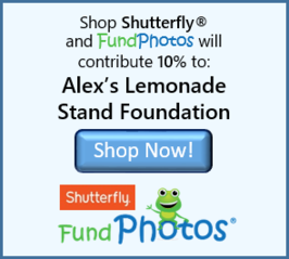 FundPhotos, Alex's Lemonade Stand Foundation, Shutterfly