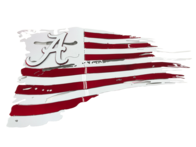 Tattered Alabama Crimson Tide Flags