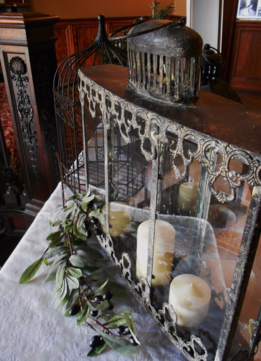 Vintage Black Lantern Wedding Decor at Semple Mansion MN