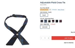 plaid cross-tie