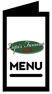 Menu for Lupi's Famous Pizza