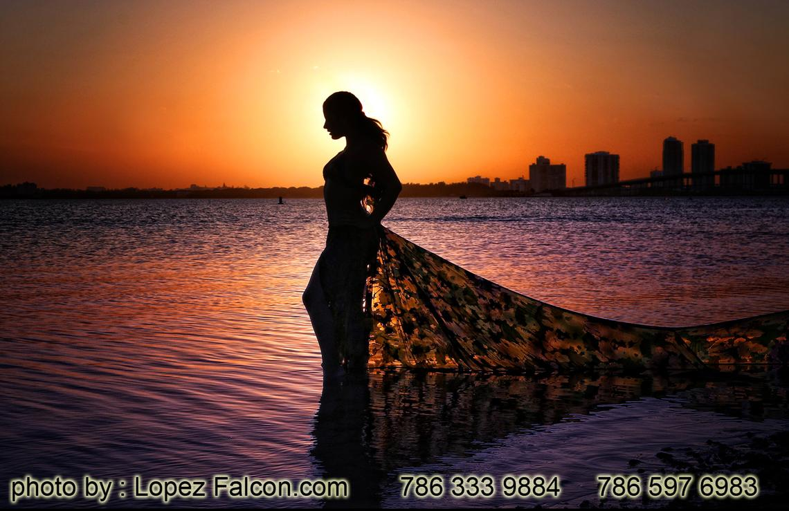 QUINCEANERA PHOTOGRAPHY INDIA BOLLYWOOD 15 ANOS MIAMI BEACH SUNSET