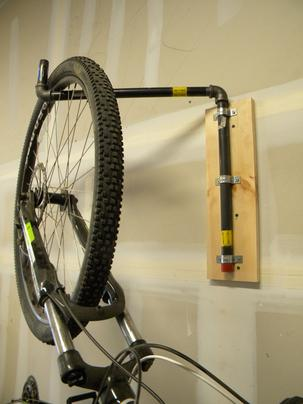 Easy DIY pivoting bike rack