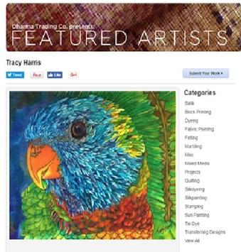 Featured Artist Tracy Harris, Silk Painter, San Diego