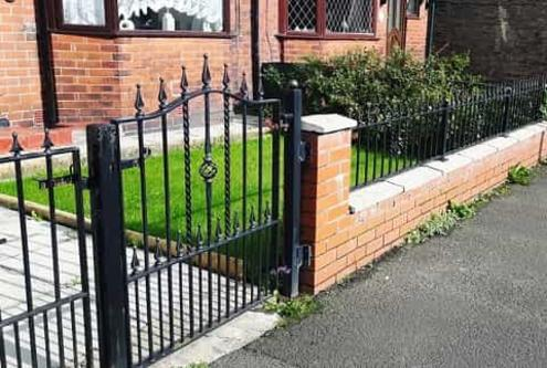 Ornamental Metal Gate with half size railings