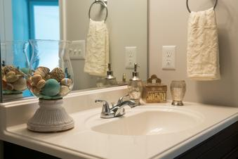 Proper staging can make even the ordinary bathrooms stand out in a buyers mind.