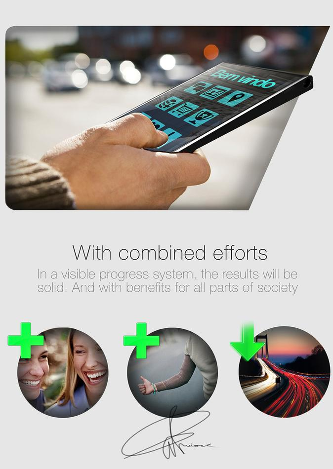 mobile gadget works like photographic mockup