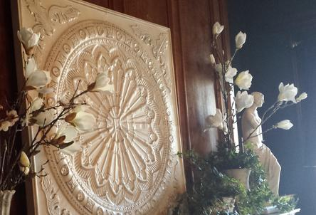 Beautiful Fireplace Mantel Decor for Wedding at Semple Mansion in Minneapolis