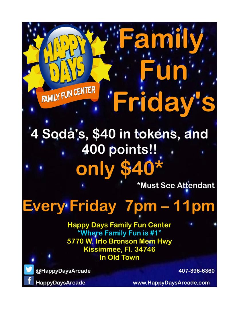 happy days family fun center