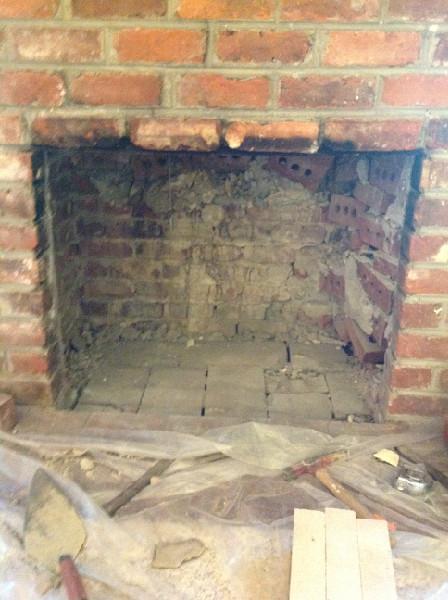 rebuild fireplace.  Firebox Rebuild