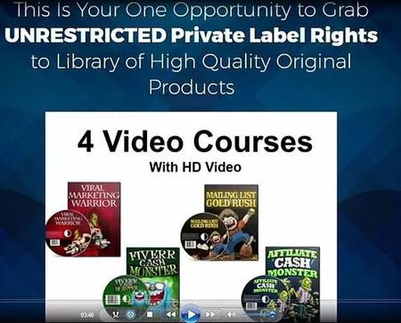 Epic Fire Sale-Unrestricted Private Label Rights to 52 internet marketing products 4 Video Courses