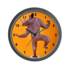 buy a rhino dancer clock by annhansonart at cafepress store