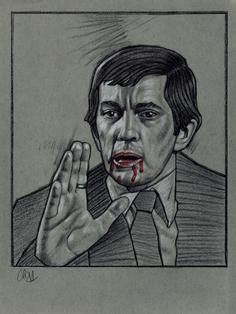Jonathan Frid as Barnabas Collins in HOUSE OF DARK SHADOWS by Cliff Carson