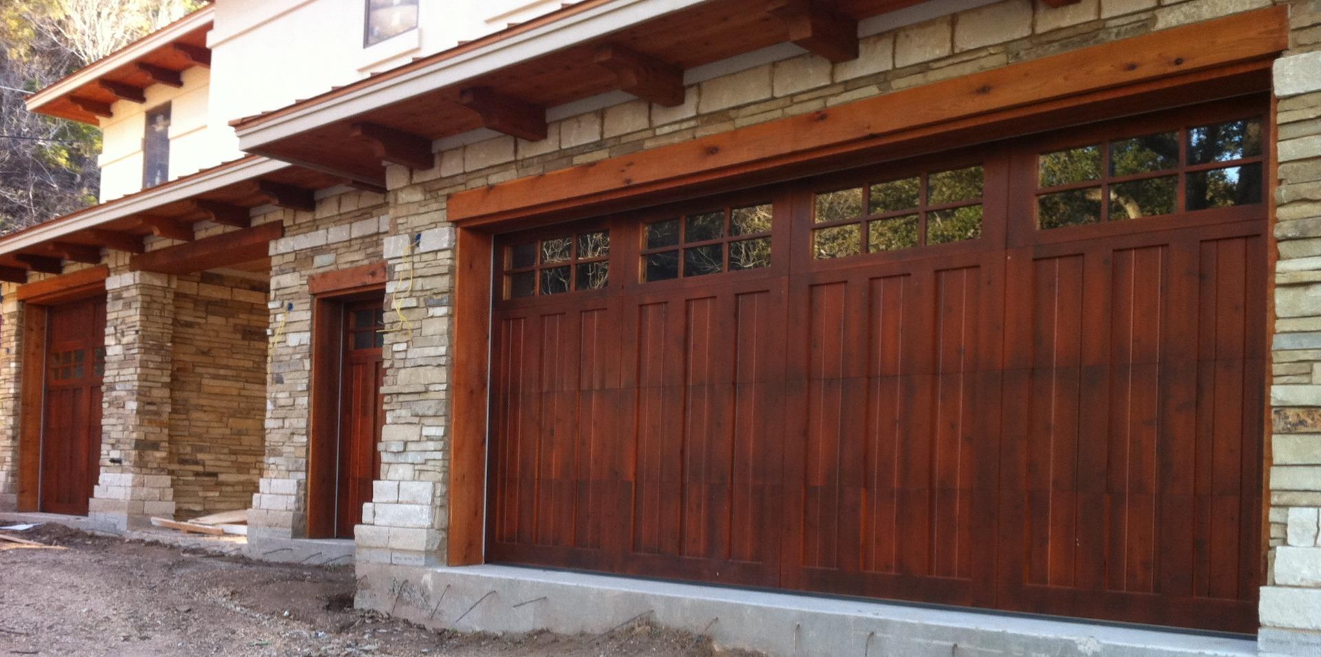 custom built to order wood garage doors top quality reclaimed wood garage doors