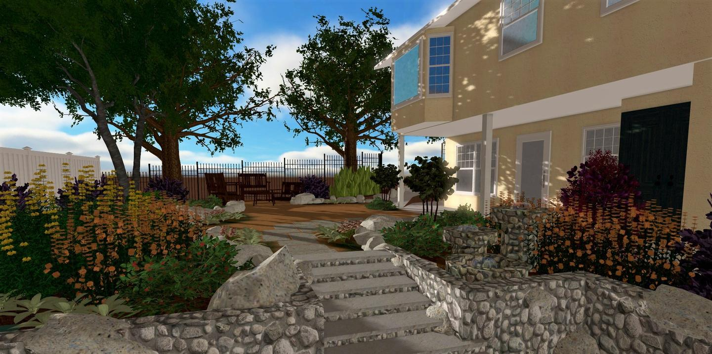 Scapela landscape design company 3d renderings for Home design 3d outdoor garden 4 0 8