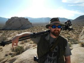 Photographer Heath Barbier in Joshua Tree