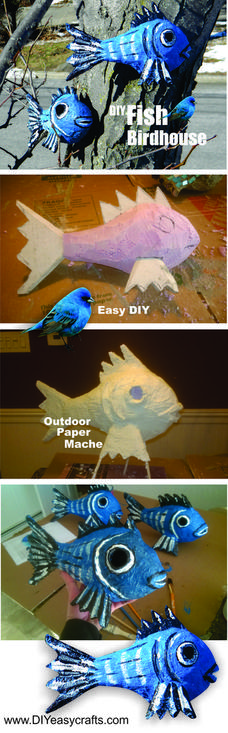 How to make outdoor weather resistant paper mache. www.DIYeasycrafts.com