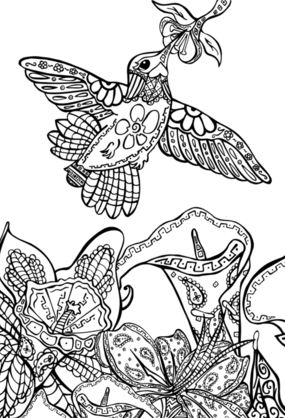 Daydreams and Doodles adult coloring book series available for art licensing by Kat Ford
