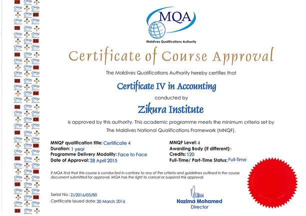 Advance Certificate in Accounting – Zikura International College