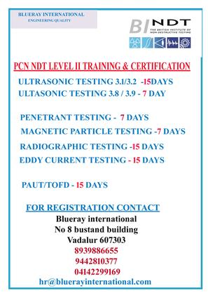 ndt courses