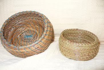Two Pine Needle Baskets