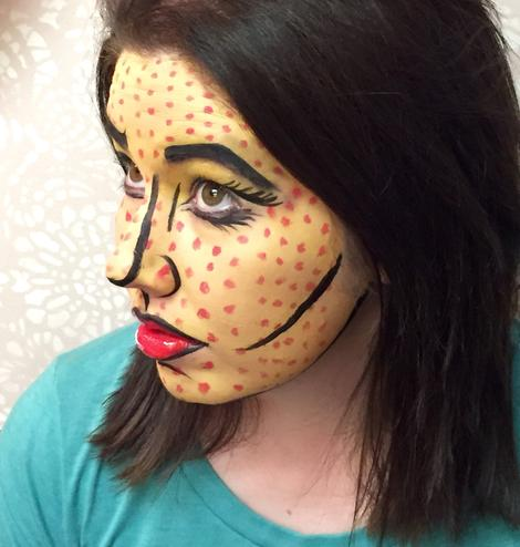 comic book face paint