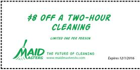 Maid Masters home and office cleaning coupon