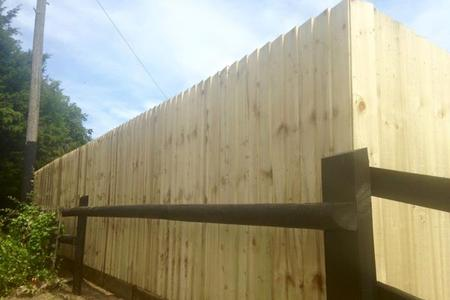 Fencing work in Frome