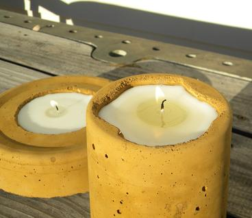 How to make a DIY Cement candle holder. www.DIYeasycrafts.com