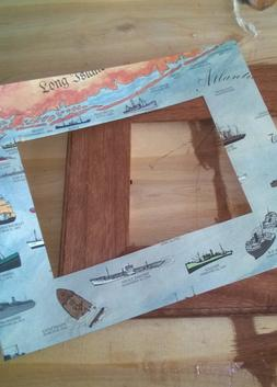 DIY Nautical Shipwreck Chart Picture Frames. www.DIYeasycrafts.com
