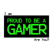 I Am Proud To Be A Gamer Sticker