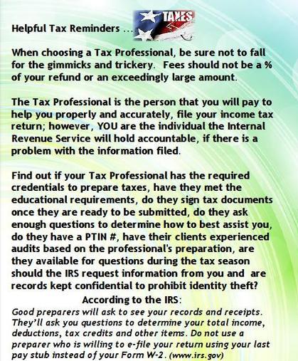 Helpful Tax Tips