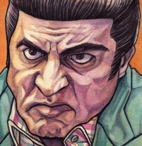 Watercolor painting of Silvio Dante from The Sopranos