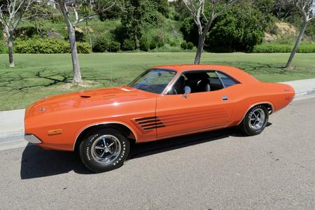 "1972 Dodge Challenger ""Factory Rallye Package"" for sale at Motor Car Company in San Diego California"