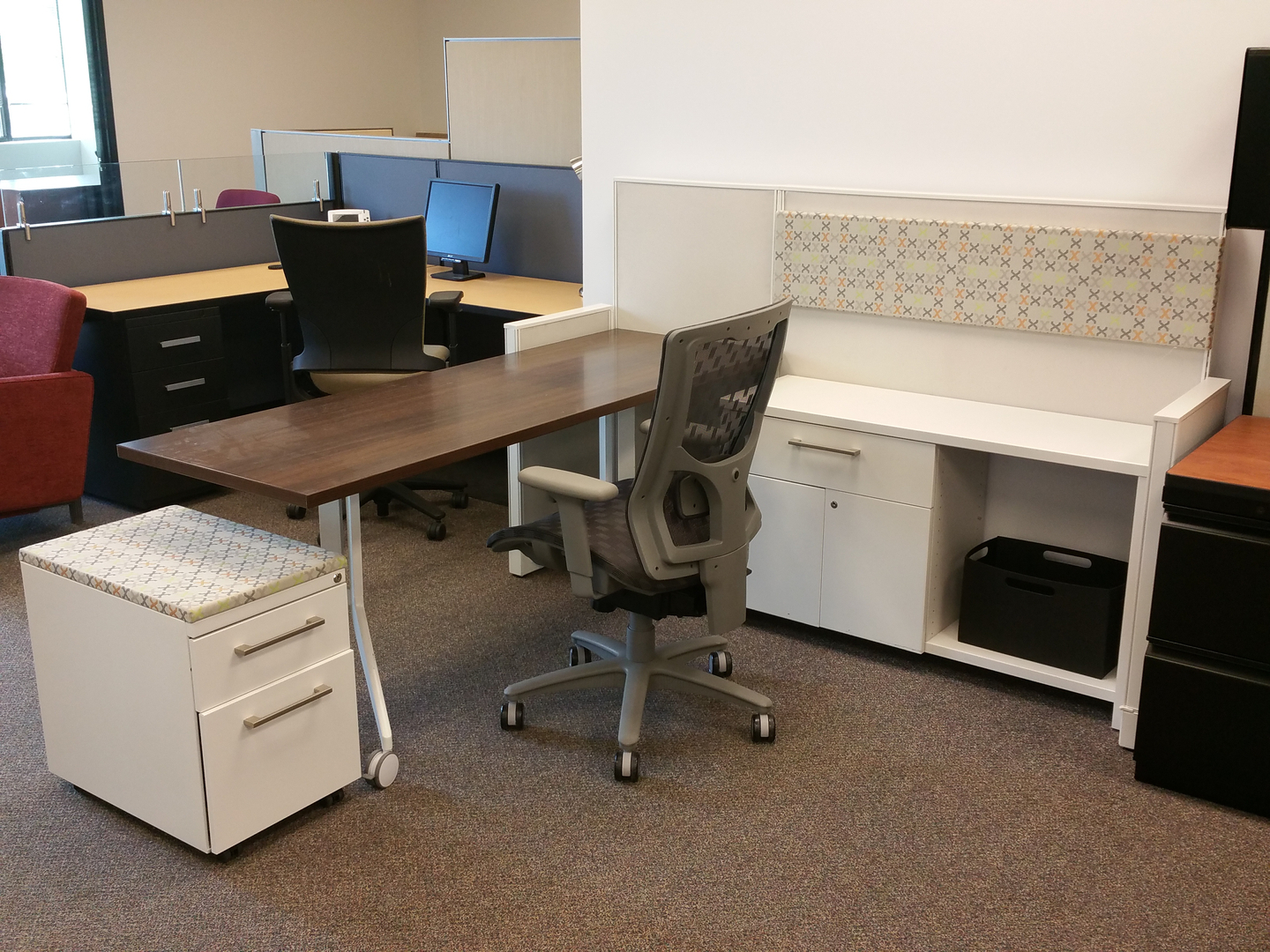 new and used open plan office furniture , or - strictly business